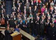 US President Barack Obama delivers his State of the Union address before a joint session of Congress on February 12, 2013 at the US Capitol in Washington