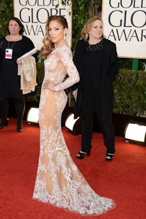 Jennifer Lopez arrives at the 70th Annual Golden Globe Awards held at The Beverly Hilton Hotel in Beverly Hills, Calif., on January 13, 2013 -- Getty Images