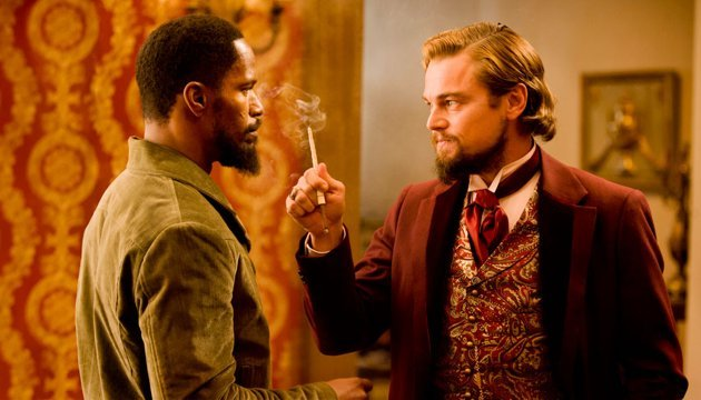 "Jamie Foxx and Leonardo DiCaprio in ""Django Unchained"" (Photo Credit: Weinstein Co.)"