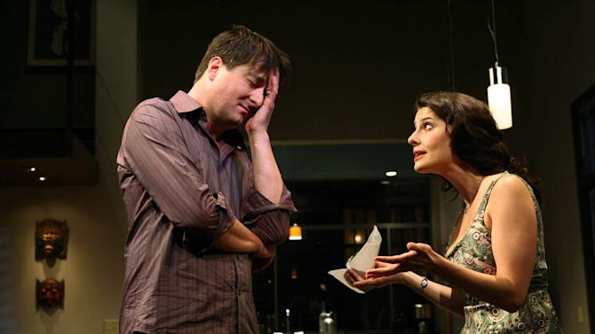 "FILE - In this photo 2006 file provided by The Publicity Office, Christopher Evan Welch and Mia Barron appear in a scene from ""The Pain and the Itch,'' by Bruce Norris at off-Broadway's Playwrights Horizons. Christopher Evan Welch, the actor whose roles on New York stages led to a series of film and television roles, including a regular spot on AMC's ""Rubicon,"" has died in Southern California. His family said in a statement Wednesday that Welch died Dec. 2 in Santa Monica. He was 48 and had been diagnosed with lung cancer. (AP Photo/The Publicity Office/Joan Marcus, File)"