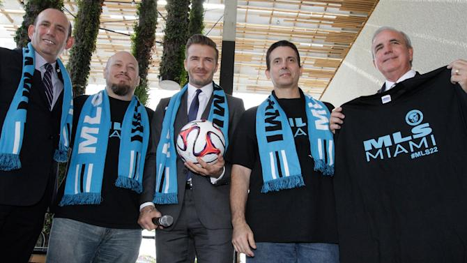 World Football - Beckham to campaign in referendum for Miami soccer stadium