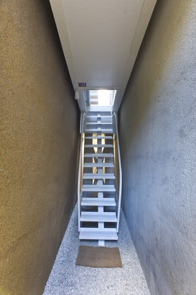 World's thinnest house Keret stairway