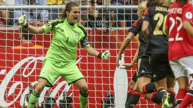 Women's Euro - Germany skipper saves TWO penalties in Euro final win