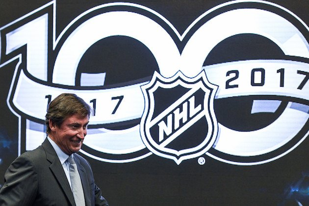 TORONTO, ON - SEPTEMBER 27: NHL icon Wayne Gretzky attends the unveiling the league's Centennial celebration plans for 2017 during a press conference at the World Cup of Hockey 2016 at Air Canada Centre on September 27, 2016 in Toronto, Ontario, Canada. (Photo by Minas Panagiotakis/Getty Images)