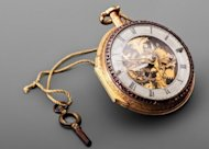 China's last emperor Puyi's pocket watch is on display in the National Palace Museum in Taipei. Priceless jewellery belonging to China's last emperor and his wife Wanrong -- on loan from China -- are on display in Taiwan for the first time