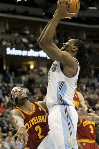 Gallinari scores 23, leads Nuggets past Cavs 98-91