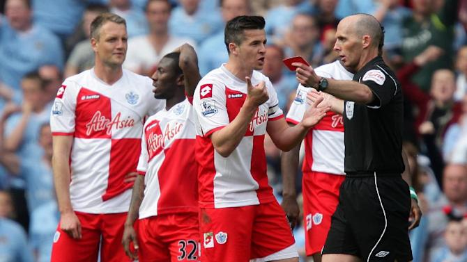 QPR have stripped Joey Barton (left) of the captaincy and fined him for his misconduct against Manchester City