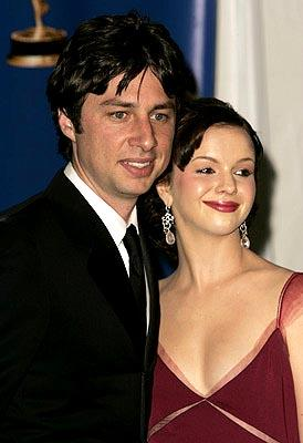 Zach Braff and Amber Tamblyn Presenter of Outstanding Supporting Actress in a Drama Series Emmy Awards - 9/19/2004