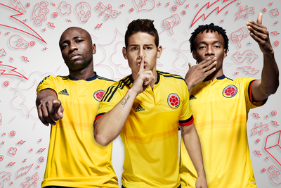 Colombia's new Copa America home kit from adidas is fire