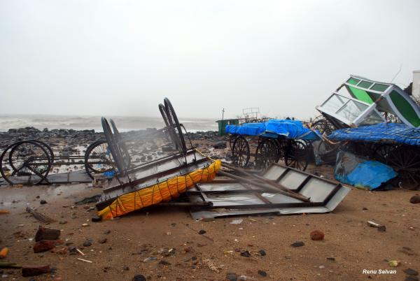 Cyclone Thane wrecks tourism in Puducherry