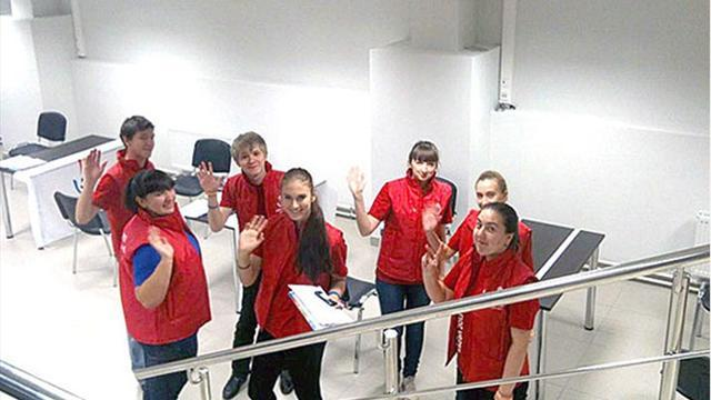 Summer Universiade  - Volunteer recruitment centre in Ekaterinburg stadium