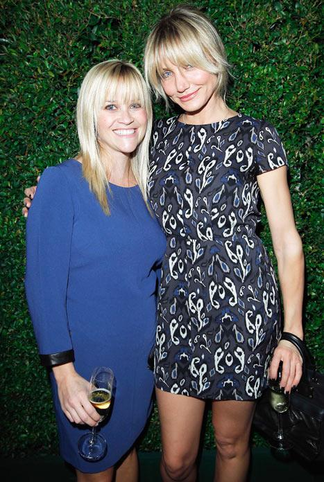 Reese Witherspoon Beams Alongside Cameron Diaz on First Night Out Post-Baby