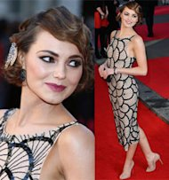 Kara Tointon does twenties at Olivier Awards
