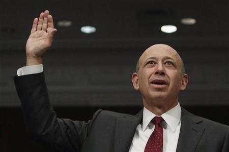 Goldman Sachs Chairman and CEO Lloyd Blankfein is sworn in before testifing at Senate Homeland Security and Governmental Affairs Investigations Subcommittee hearing