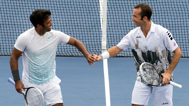 Tennis - Paes and Stepanek chase US Open doubles title