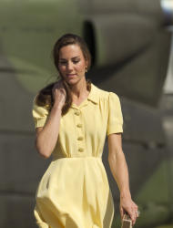 FILE - In this July 7, 2011 file photo, Kate, the Duchess of Cambridge, arrives in Calgary, Canada as the couple undertake their Royal Tour of Canada. The Duchess of Cambridge is turning 30 on Monday, Jan. 9, 2011 - but royal fans expecting a lavish birthday bash to mark the milestone will be disappointed. (AP Photo/Charlie Riedel, File)
