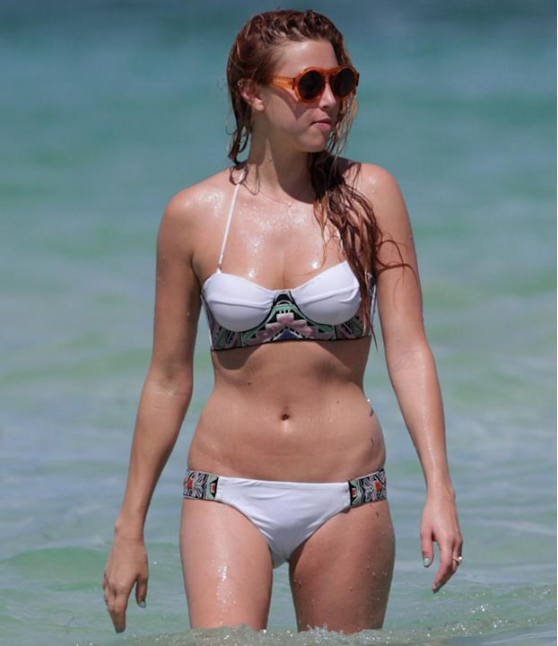 Celebrities in bikinis: Whitney Port's embroidered bikini is to die for as is her killer bod.