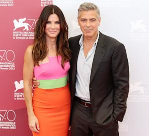 """Sandra Bullock: My Son Louis, 3, Has """"Man Time"""" With George Clooney"""