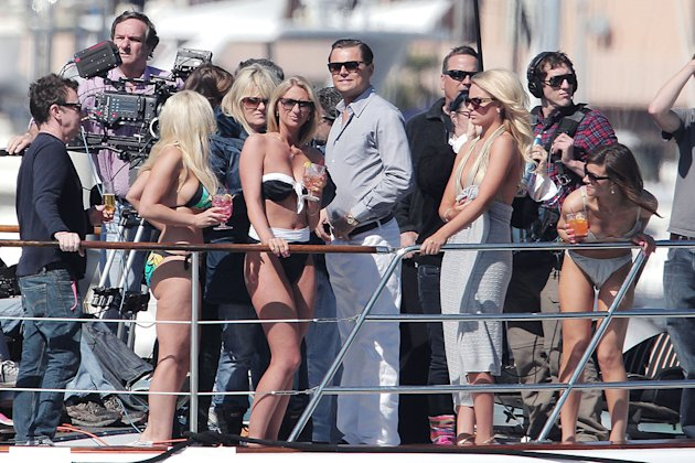 **EXCLUSIVE** Leonardo DiCaprio hooks up with rumored new girlfriend Australian actress Margo Robbie in re-shoots for the upcoming film 'Wolf of Wall Street'