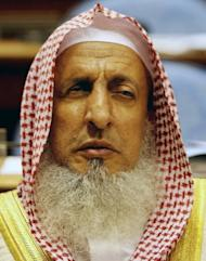 "Saudi Grand Mufti Sheikh Abdul Aziz al-Sheikh, seen at the Shura Council in Riyadh in 2008. He has called Twitter ""a great danger not suitable for Muslims"" and ""a platform for spreading lies and making accusations"""