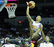 Japeth Aguilar did enough to make it to the last 20 aspirants in an open try out with the Bakersfield Jam. (PBA Images)