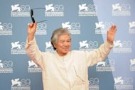Asian Filmmaker of the Year Koji Wakamatsu, pictured here at the Venice Film Festival in September, has said a lack of government support for young directors in the region is stifling artistic freedom