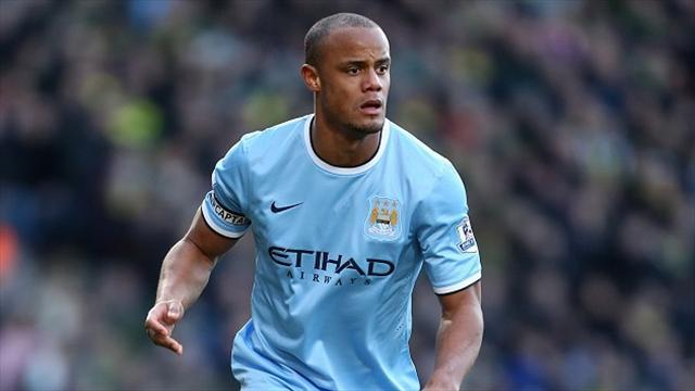 Premier League - Kompany starts for City, Aguero only makes bench
