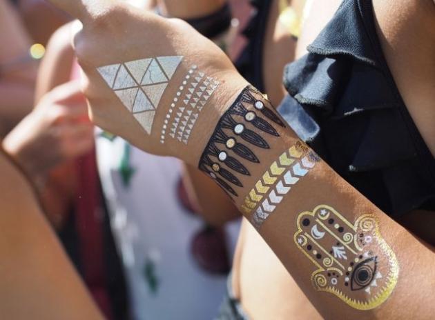 How to recreate body art, Coachella-style