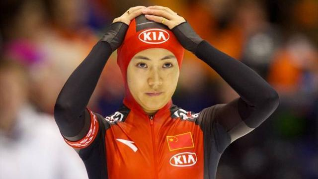 Speed Skating - Wang claims 500m double in Erfurt