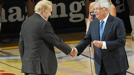 Jerry Buss and David Stern