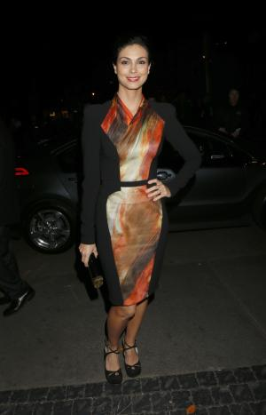 Morena Baccarin attends the W Magazine's Best Performances and Golden Globe Awards Party Presented by Cadillac, on Friday, January, 11, 2013 in Los Angeles. (Photo by Todd Williamson/Invision for Cadillac/AP Images)