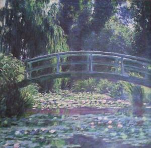 """A photo provided by the United States Attorney's Office in New York shows an 1899 painting by Impressionist master Claude Monet entitled, """"Le Bassin aux Nymphease,"""" which is also known as """"Japanese Footbridge Over the Water-Lily Pond at Giverny.""""   Vilma Bautista, one time secretary to Philippine's first lady Imelda Marcos, was indicted in New York, Tuesday, Nov. 20, 2012, on charges of conspiracy, tax fraud and offering a false instrument for filing for attempting to illegally sell this work and others that disappeared as Ferdinand Marco's regime collapsed in the late 1980's. (AP Photo/United States Attorney's Office)"""