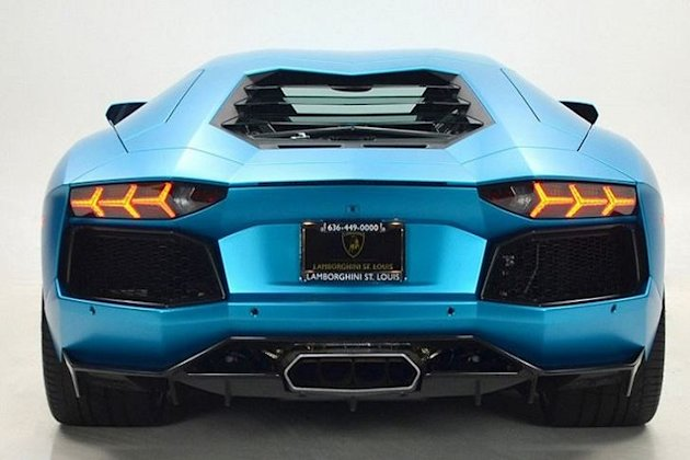 Lamborghini Aventador Ocean Shimmer Rear photo