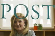 Arianna Huffington, president and editor-in-chief of the Huffington Post Media Group, poses on June 6, 2012 during an interview at the Huffington Post office in Madrid. US news website and aggregator The Huffington Post launched a Japanese edition Tuesday, the company's first site in Asia, hoping to shake up the media landscape and generate discussion with readers