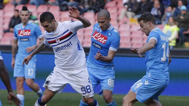 Italian Serie A - Napoli frustrated as Sampdoria hold firm