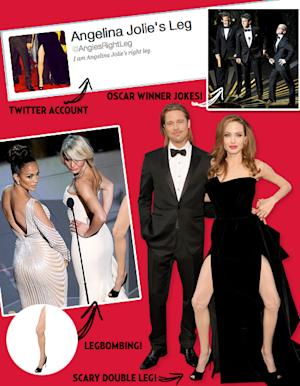 LOL! Angelina Jolie's Right Leg Takes Over the Internet!