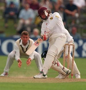 Kevin Curran playing for Northamptonshire against Kent in 1997