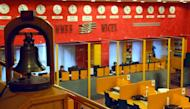 Brokers work at Russia's Micex-RTS stock exchange in Moscow. The Moscow Exchange was set for a relatively disappointing flotation Friday after Russia's main trading platform was valued at $4.2 billion, well below its own valuation estimates