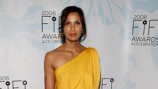 Padma Lakshmi attends the 36th Annual FIFI Awards presented by the Fragrance Foundation at the Park Avenue Armory on May 20, 2008 in New York City.