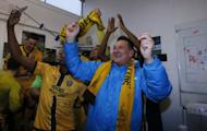 File Photo : Britain Football Soccer - Sutton United v Leeds United - FA Cup Fourth Round - The Borough Sports Ground - 29/1/17 Sutton United manager Paul Doswell celebrates at the end of the match Action Images via Reuters / Andrew Couldridge