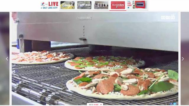 Domino's Live-Streams Pizza Making