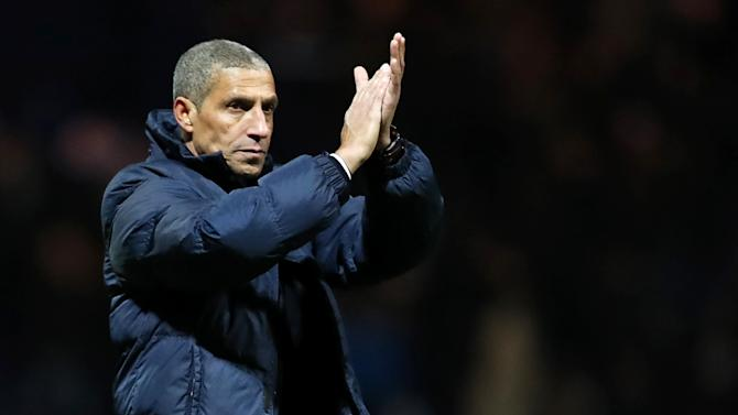 Brighton and Hove Albion manager Chris Hughton after the match