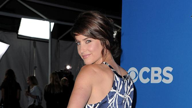 """Cobie Smulders of """"How I Met Your Mother"""" arrives at the CBS Fall Season Premiere party at The Colony on September 16, 2010, in Los Angeles."""