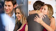 Married actors John Krasinski and Emily Blunt were affectionate and sweet on the TIFF 2012 red carpet for her film Looper.