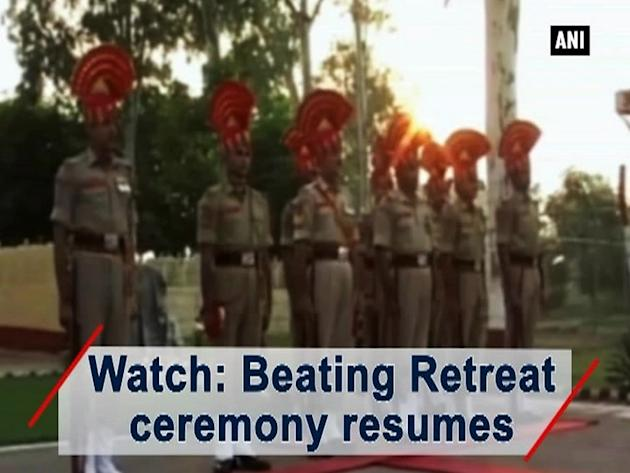 Watch: Beating Retreat ceremony resumes