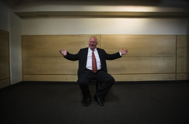 """Neil Sarel poses for a picture before his audition for """"Rob Ford The Musical: The Birth of a Ford Nation"""" (Reuters)"""