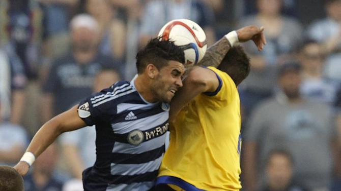 Sporting KC beats Rapids 2-0 in Chance Myers' return