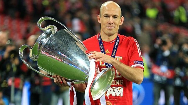 Bundesliga - Robben wants to complete Bayern treble