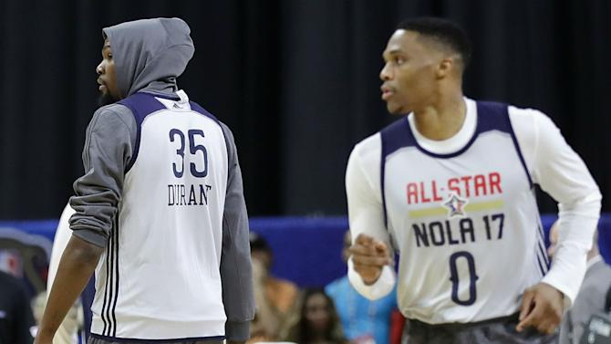 NBA All-Star Game 2017: Kevin Durant, Russell Westbrook reunite for alley-oop