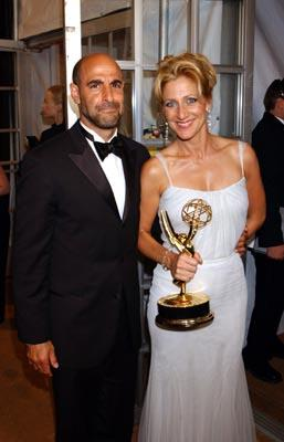 "Stanley Tucci and Edie Falco Outstanding Lead Actress in a Drama ""The Sopranos"" 55th Annual Emmy Awards - 9/21/2003"